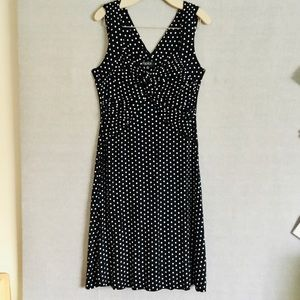 Papillon black and white polka dot dress